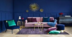 Art Deco styl bydlení, polštáře, pohovky