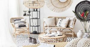 Bohémský styl interiéru, dekorační polštáře